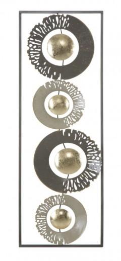 Decoratiune metalica de perete Ring Multicolor, l31xA3xH89,5 cm