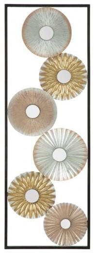 Decoratiune metalica de perete Torh-A, L31xl1,8xH90 cm