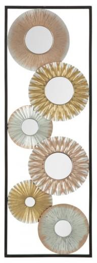 Decoratiune metalica de perete Torh-B, L31xl1,8xH90 cm