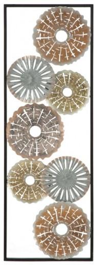Decoratiune metalica de perete Tud-A, L31xl1,8xH90 cm