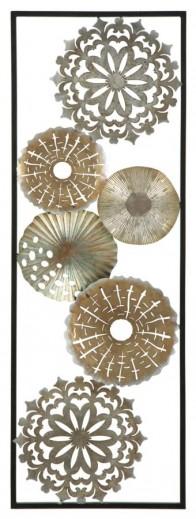Decoratiune metalica de perete Tud-B, L31xl1,8xH90 cm