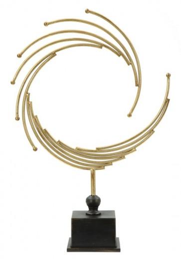 """Decoratiune metalica """"Glam Round"""" Gold / Black, H 54 cm"""