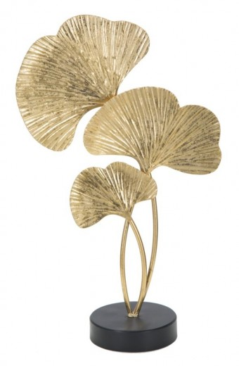 Decoratiune metalica Leaves Auriu, l24,5xA10,5xH40,5 cm
