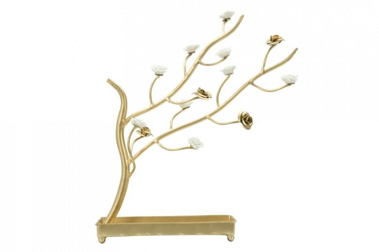 """Decoratiune metalica """"Tree II"""" Gold, H 36,5 cm"""