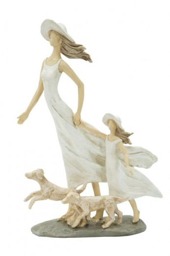 "Decoratiune ""Woman and daughter"", L20xl7,5xH30 cm"