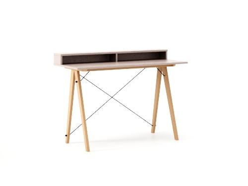 Masa de birou Desk Slim Beech Dusty Pink II, L120xl50xh85 cm