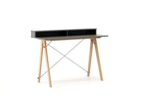 Masa de birou Desk Slim Beech Grey II, L120xl50xh85 cm