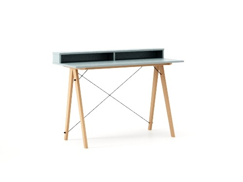 Masa de birou Desk Slim Beech Ice Blue II, L120xl50xh85 cm