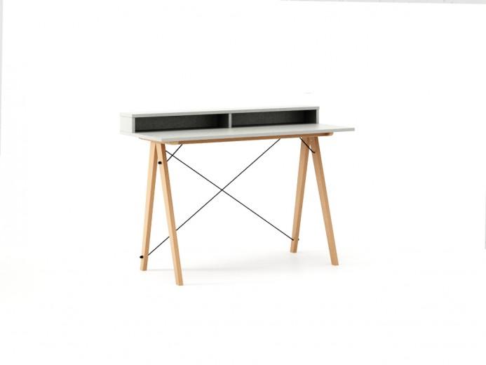 Masa de birou Desk Slim Beech Light Grey II, L120xl50xh85 cm