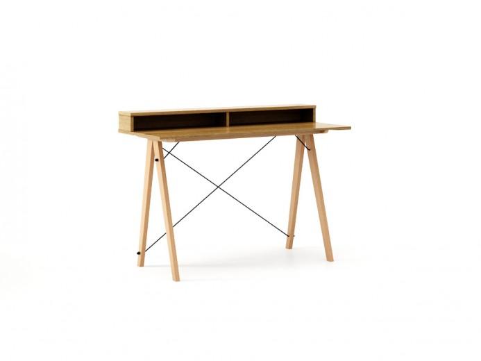 Masa de birou Desk Slim Beech Oak II, L120xl50xh85 cm