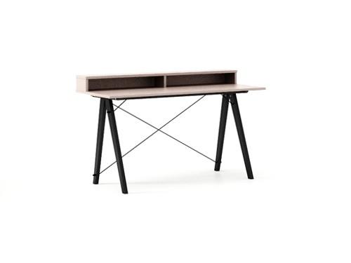 Masa de birou Desk Slim Black Dusty Pink II, L120xl50xh85 cm