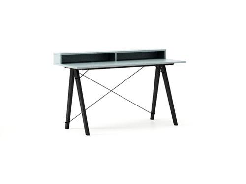 Masa de birou Desk Slim Black Ice Blue II, L120xl50xh85 cm
