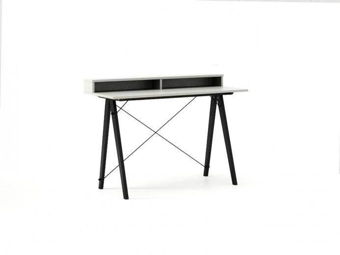 Masa de birou Desk Slim Black Light Grey II, L120xl50xh85 cm