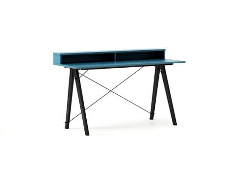 Masa de birou Desk Slim Black Oceanic II, L120xl50xh85 cm