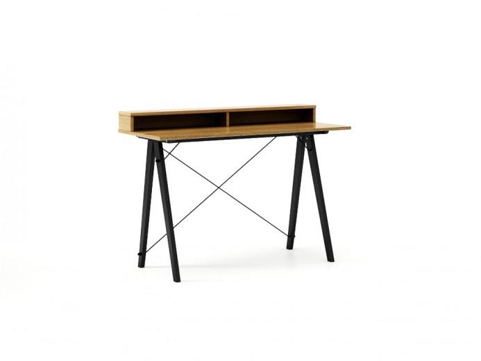 Masa de birou Desk Slim Black Oak II, L120xl50xh85 cm
