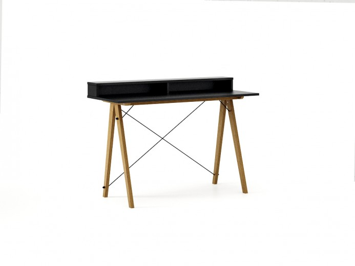 Masa de birou Desk Slim Oak Black II, L120xl50xh85 cm