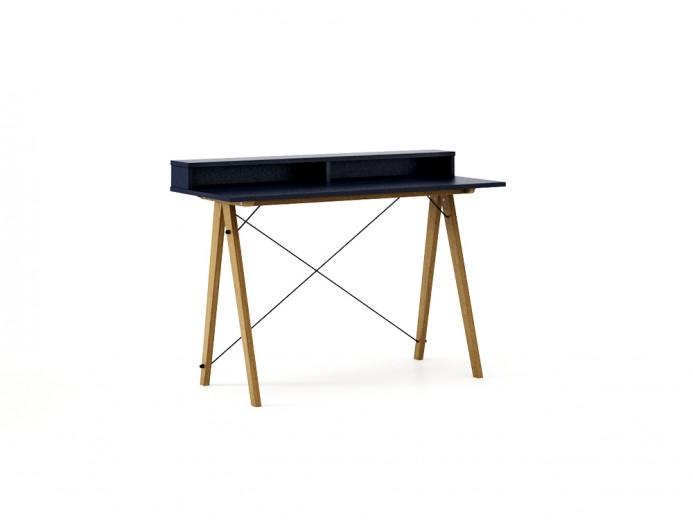 Masa de birou Desk Slim Oak Dark Navy II, L120xl50xh85 cm