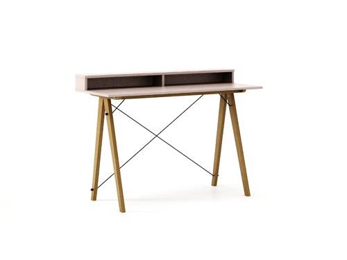 Masa de birou Desk Slim Oak Dusty Pink II, L120xl50xh85 cm