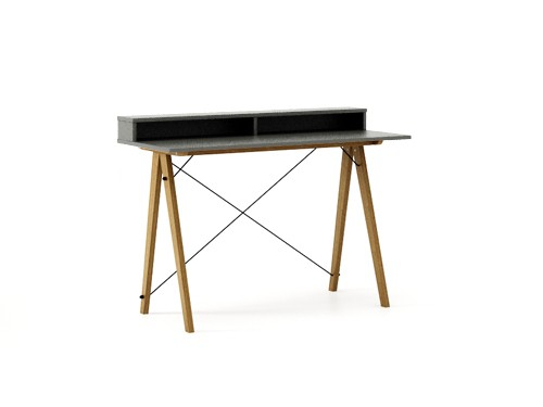 Masa de birou Desk Slim Oak Grey II, L120xl50xh85 cm