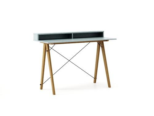 Masa de birou Desk Slim Oak Ice Blue II, L120xl50xh85 cm