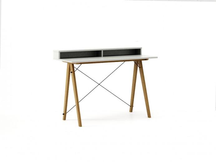 Masa de birou Desk Slim Oak Light Grey II, L120xl50xh85 cm