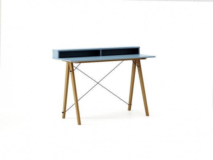Masa de birou Desk Slim Oak Blue II, L120xl50xh85 cm