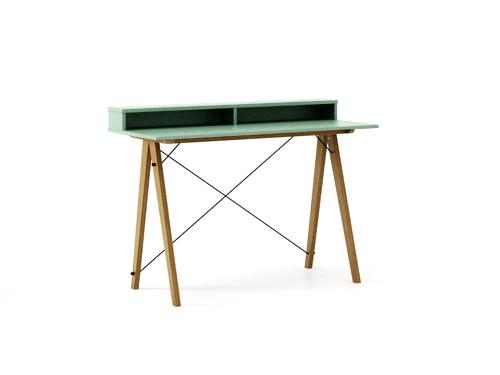 Masa de birou Desk Slim Oak Mint II, L120xl50xh85 cm