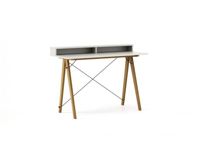 Masa de birou Desk Slim Oak White II, L120xl50xh85 cm