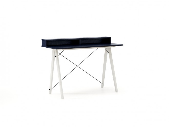 Masa de birou Desk Slim White Dark Navy II, L120xl50xh85 cm