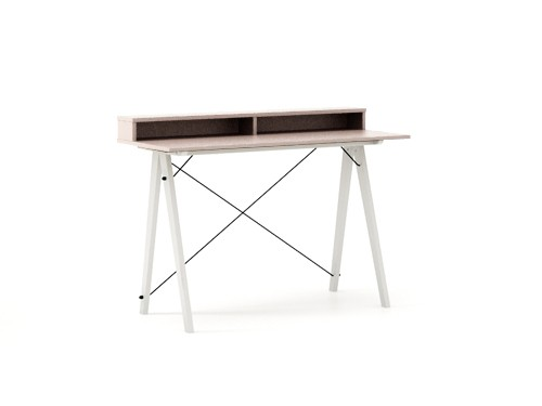 Masa de birou Desk Slim White Dusty Pink II, L120xl50xh85 cm