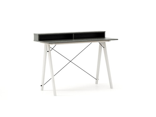 Masa de birou Desk Slim White Grey II, L120xl50xh85 cm