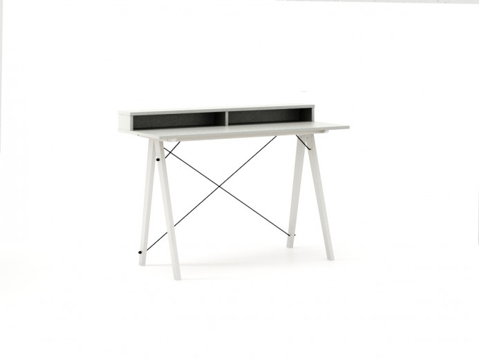Masa de birou Desk Slim White Light Grey II, L120xl50xh85 cm
