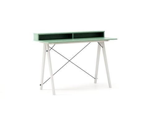 Masa de birou Desk Slim White Mint II, L120xl50xh85 cm