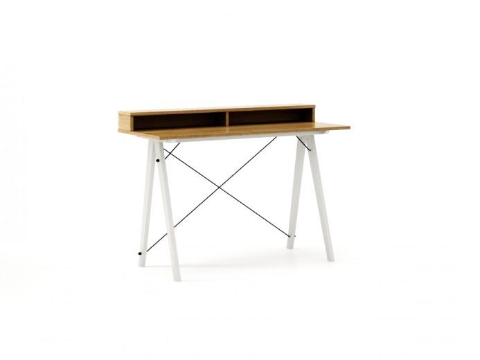 Masa de birou Desk Slim White Oak II, L120xl50xh85 cm