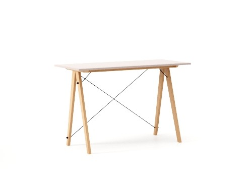 Masa de birou Desk Slim Beech Dusty Pink, L120xl50xh75 cm