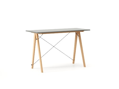 Masa de birou Desk Slim Beech Grey, L120xl50xh75 cm
