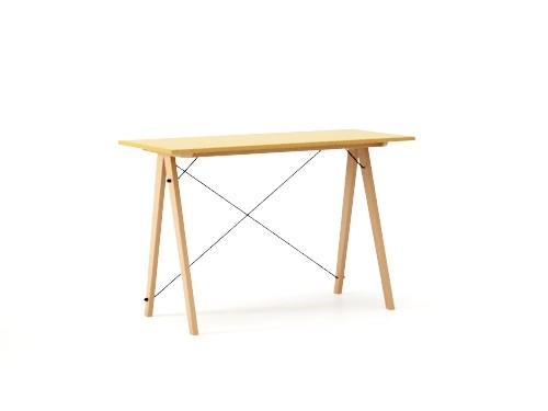 Masa de birou Desk Slim Beech Mustard, L120xl50xh75 cm