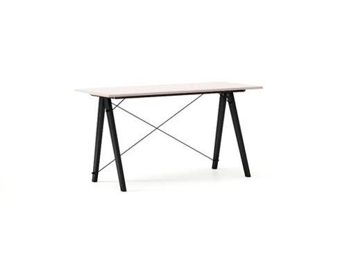 Masa de birou Desk Slim Black Dusty Pink, L120xl50xh75 cm