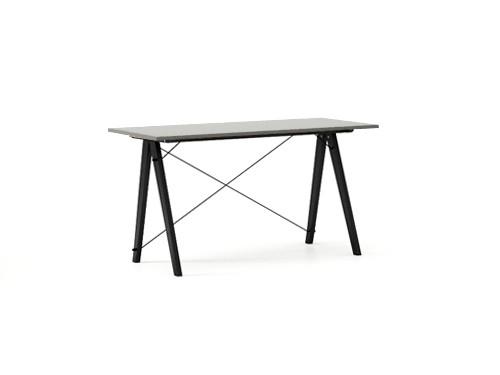 Masa de birou Desk Slim Black Grey, L120xl50xh75 cm