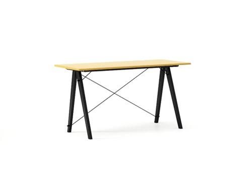 Masa de birou Desk Slim Black Mustard, L120xl50xh75 cm