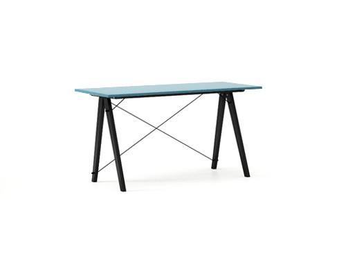 Masa de birou Desk Slim Black Oceanic, L120xl50xh75 cm