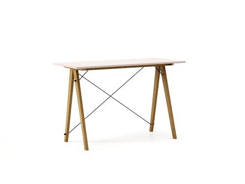 Masa de birou Desk Slim Oak Dusty Pink, L120xl50xh75 cm