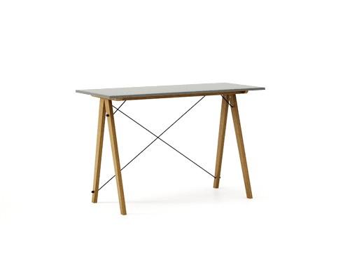 Masa de birou Desk Slim Oak Grey, L120xl50xh75 cm