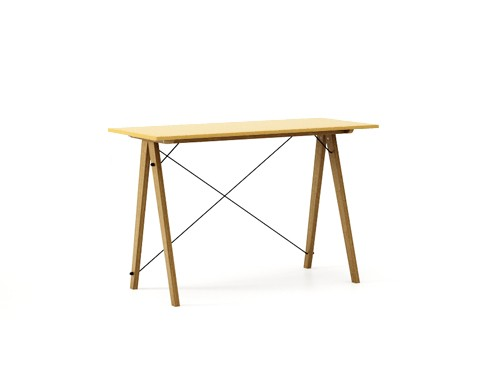 Masa de birou Desk Slim Oak Mustard, L120xl50xh75 cm