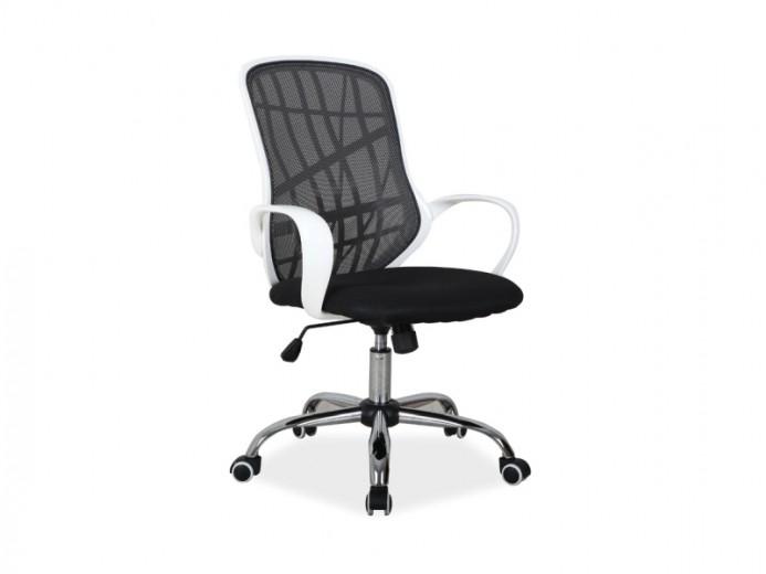 Scaun de birou ergonomic, tapitat cu stofa Dexter Black / White, l51xA45xH95-105 cm