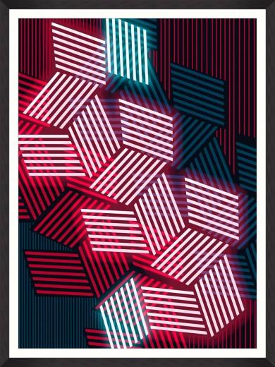 Tablou Framed Art Disco Lights II