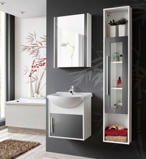 Set Mobilier pentru baie, 4 piese, Domino