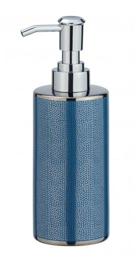 Dozator pentru sapun, din ceramica, Nuria Argintiu / Albastru, Ø6,5xH18,7 cm