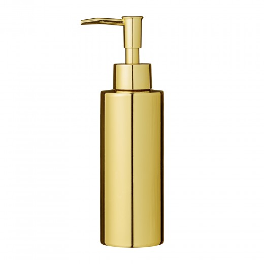 Dozator pentru sapun din metal, Goldy Auriu, Ø5,5xH19,5 cm