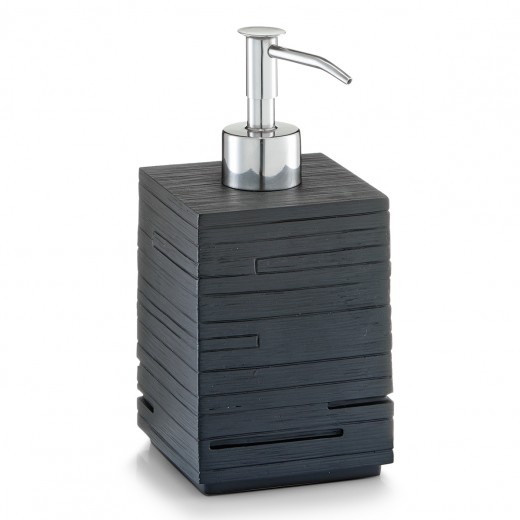 Dozator pentru sapun din polirasina, Slate Black, l8xA8xH16 cm